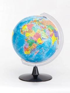 16 cm political globe